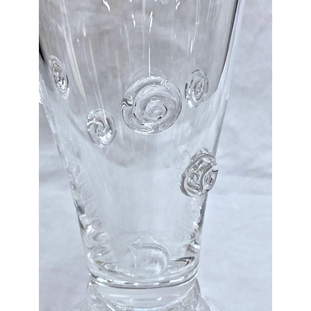 Glass Steuben Swirled Crystal Vase For Sale - Image 7 of 13