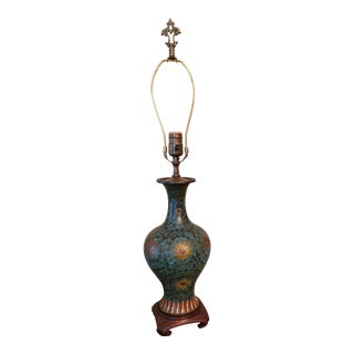 Late 19th Century Cloisonne Vase to Lamp Conversion For Sale