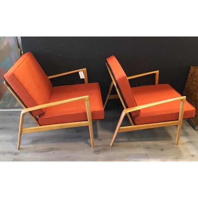 Pair Mid Century Chairs For Sale In New York - Image 6 of 8