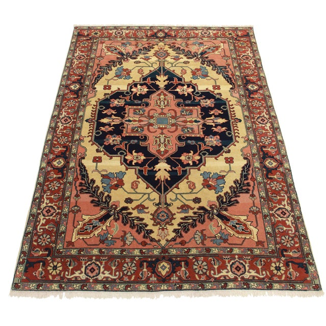 Hand Knotted Persian Style Wool Pile Area Rug: RugsinDallas Hand Knotted Wool Persian Serapi Style