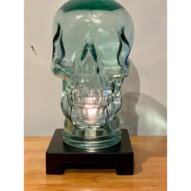 Late 20th Century Modern Glass Skull Lamp For Sale - Image 5 of 12