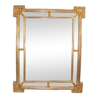 Italian Silver Gilt Mirror For Sale