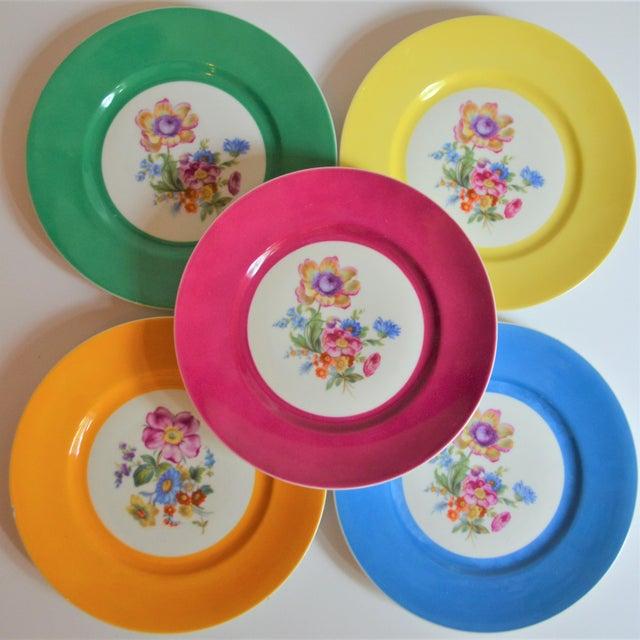 Vintage Richard Ginori Italian Botanical Porcelain Plates - Set of 5 For Sale - Image 12 of 12