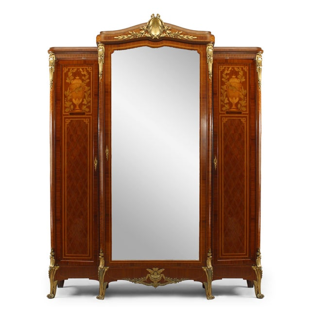 French Louis XVI Style Satinwood Armoire For Sale In New York - Image 6 of 6