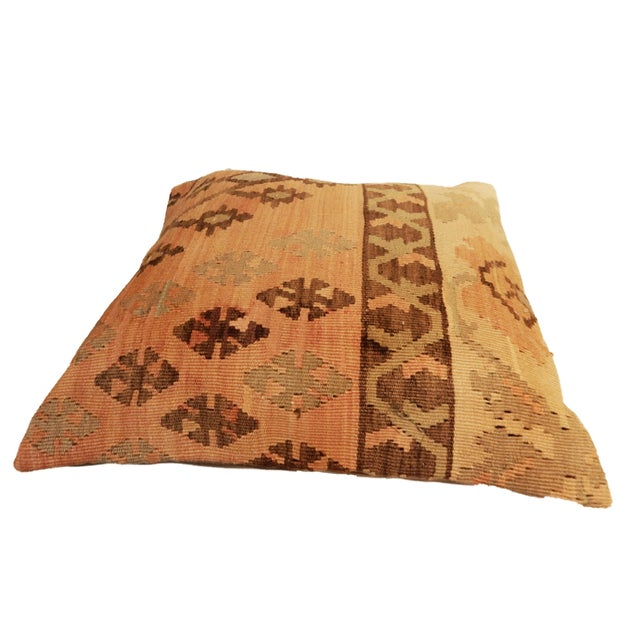 Old Turkish Tribal Kilim Pillow - Image 4 of 7