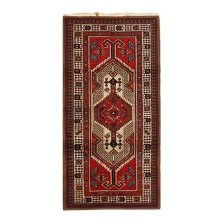 Pasargad Red Persian Hand Knotted Serab Rug- 3′ × 4′9″ For Sale