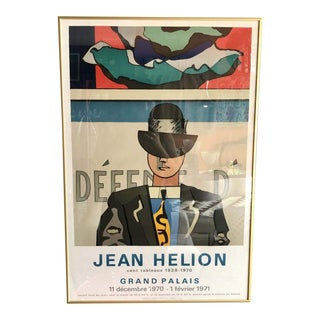 1970s Jean Helion French Show Poster, Framed For Sale