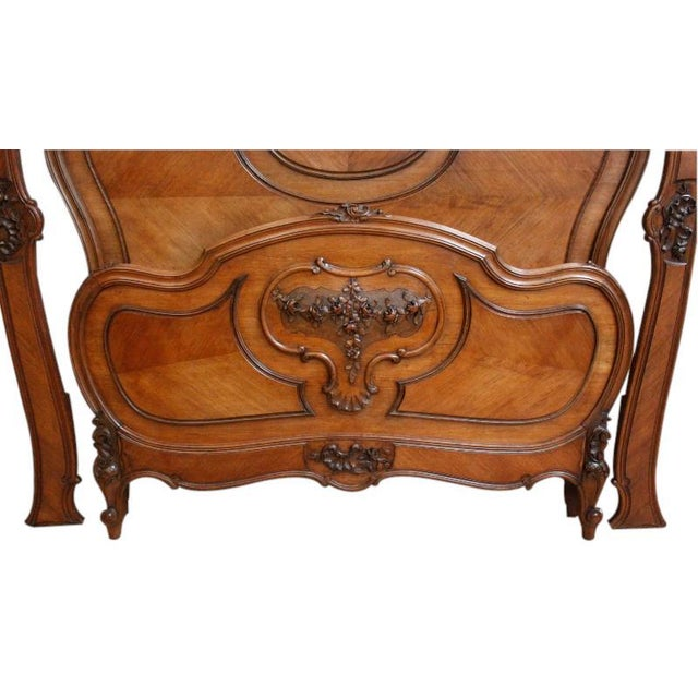 Antique 1900 French Rococo Louis XV Style Bed - Image 2 of 7