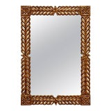 Image of Gilt Carved Mirror by Harrison and Gil For Sale