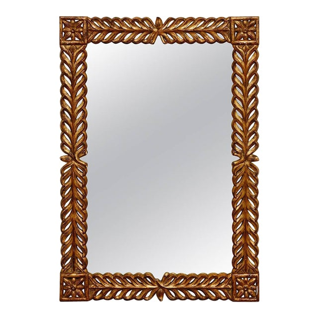 Gilt Carved Mirror by Harrison and Gil For Sale