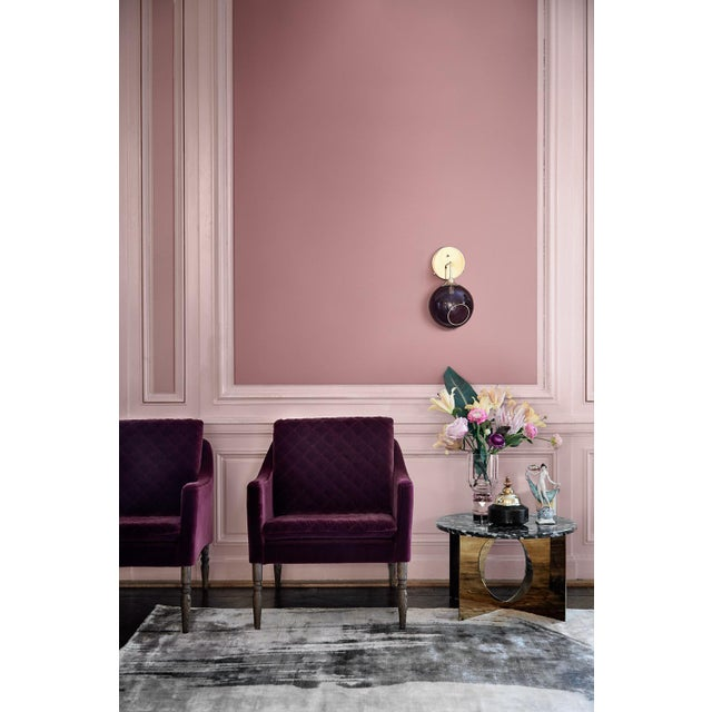 Marie Burgos Design Ballroom the Wall Short Sconce - Pink For Sale - Image 4 of 8