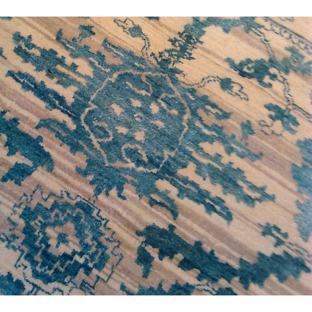 "Erased Hand-Knotted Luxury Rug - 7'10"" X 10'2"" - Image 6 of 10"