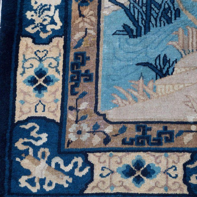 World Class Chinese Art Deco Rug With Hues Of Midnight And Royal