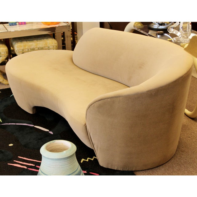 Vladimir Kagan 1980s Vintage Contemporary Modern Kagan for Weiman Preview Serpentine Sculptural Sofa Chaise For Sale - Image 4 of 9