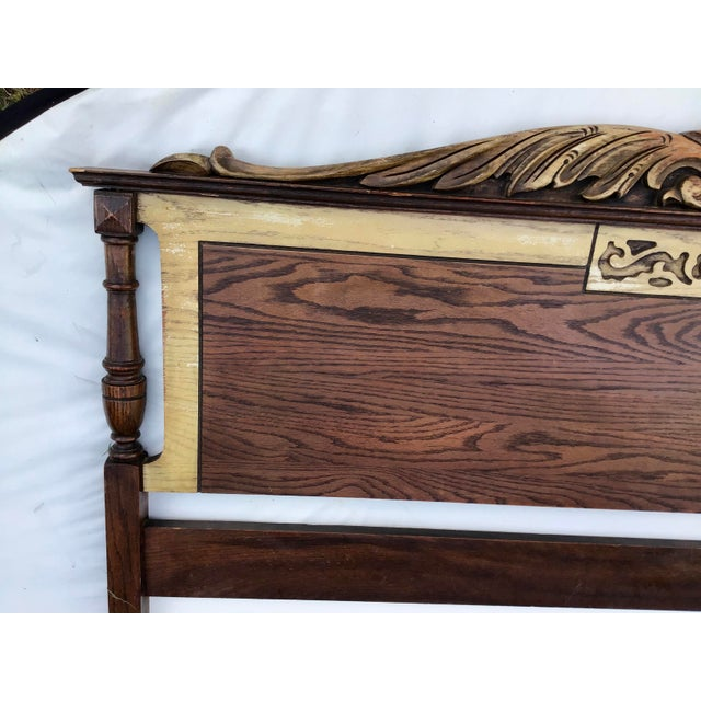 Wood French Louis XV Inspired Double Headboard & Footboard For Sale - Image 7 of 12