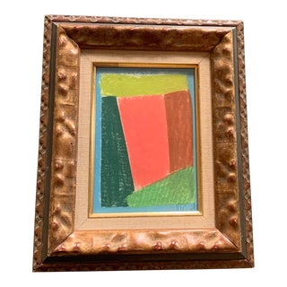 1970's Vintage Abstract Pastel Original by Robert Cooke in Vintage Frame For Sale