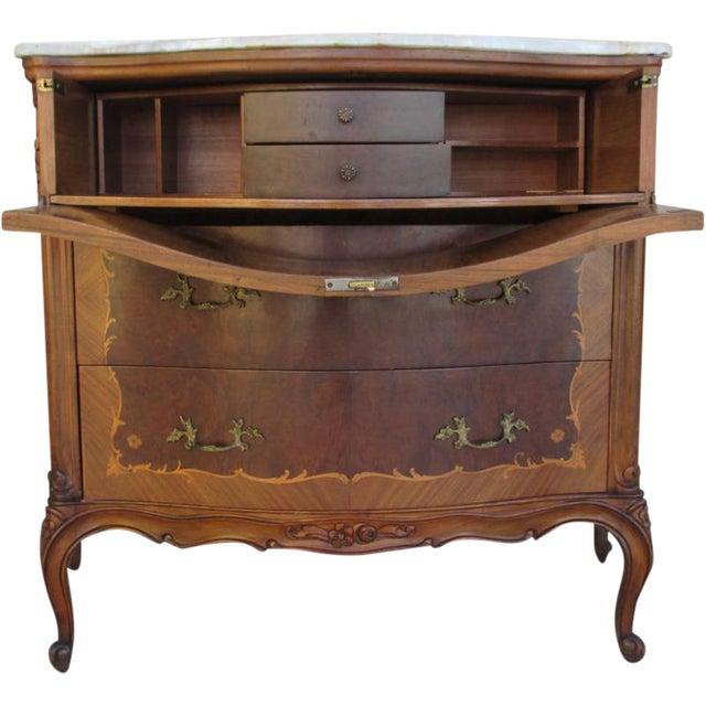 French Antique Drop-Leaf Desk Dresser Commode - French Antique Drop-Leaf Desk Dresser Commode Chairish