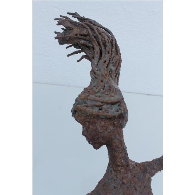 1970's Art Torch Cut Metal Floor Sculpture by Hambleton - Image 10 of 11