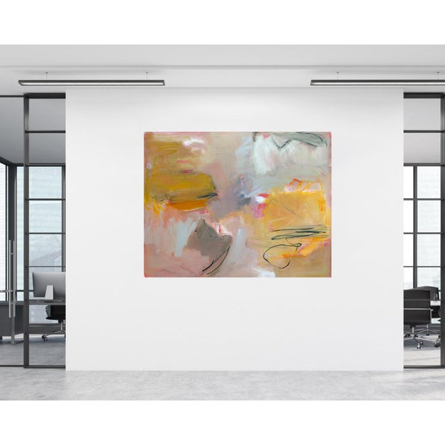 """""""Sirocco"""" by Trixie Pitts XL Abstract Expressionist Oil Painting For Sale In Nashville - Image 6 of 13"""