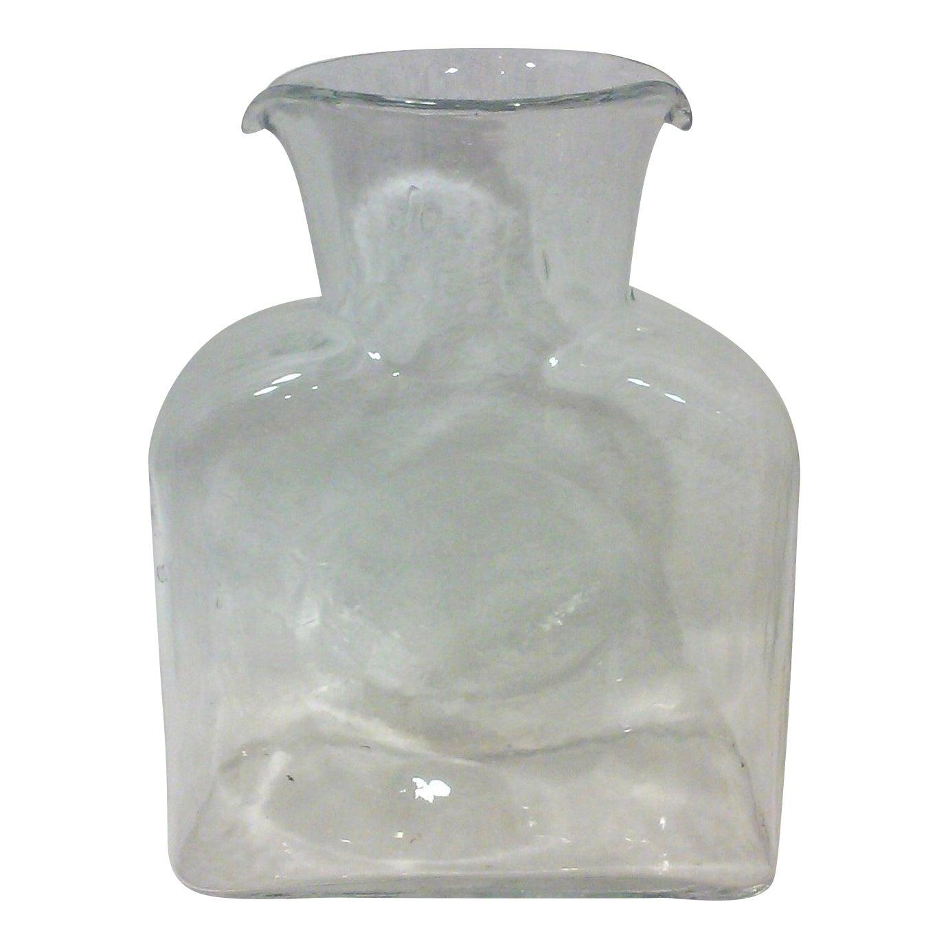 Blenko clear glass water pitcher chairish