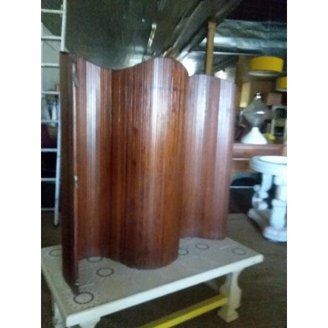 French Slatted Wood Room Divider For Sale - Image 6 of 8