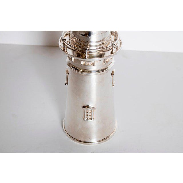 Brass Silver-Plated Boston Lighthouse Cocktail Shaker For Sale - Image 7 of 13