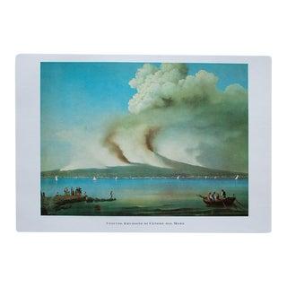 """1964 """"Vesuvius Seen From the Sea"""", Original Lithograph For Sale"""