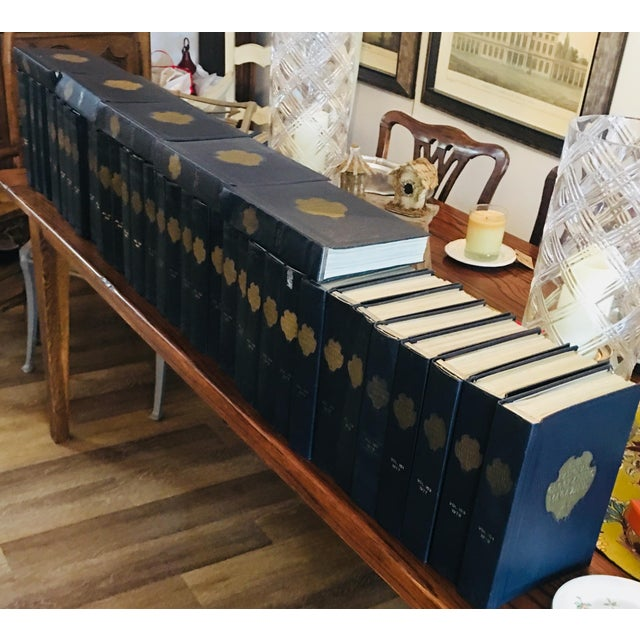 Add some history to your room with these one of a kind Navy blue leather (1960-1978) National Geographic Magazines. These...