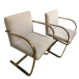 Mies Van Der Rohe Chairs for Knoll - a Pair For Sale