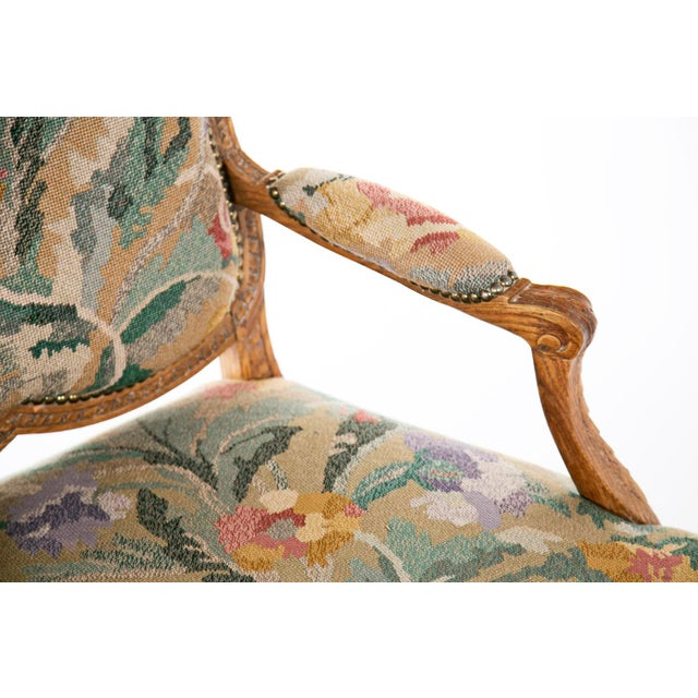 Beech 19th Century Louis XV Carved Armchair For Sale - Image 7 of 7