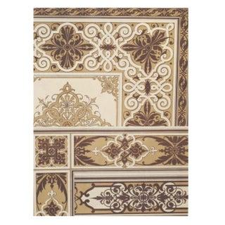 Colorful Decorator Sheet - Sepia C. 1900