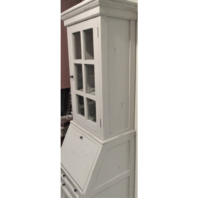 2010s Cottage Narrow White Secretary Desk For Sale - Image 5 of 8