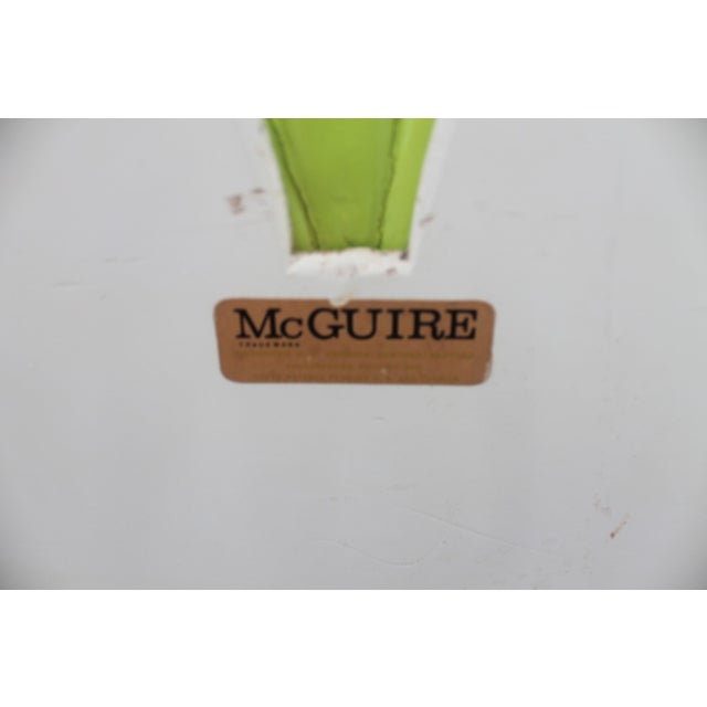 McGuire Bamboo Double Arch Wall Mirror - Image 7 of 9