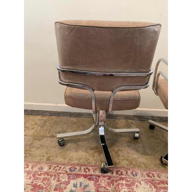 Taupe 1980s Swivel Rocker Desk Chair For Sale - Image 8 of 11
