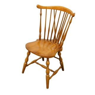 Late 20th Century Vintage Pennsylvania House Hard Rock Maple Colonial Fiddleback Dining Chair Preview