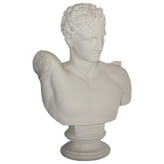 "Neoclassical Revival ""Hermes"" Plaster Bust For Sale"