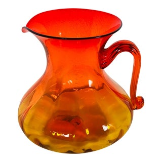 Blenko 1970 Hand Blown Glass Pitcher