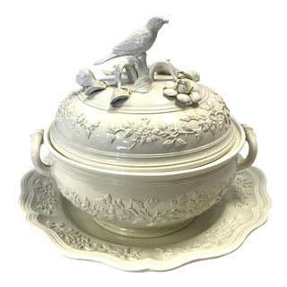 Mottahedeh Bird Soup Tureen & Underplate