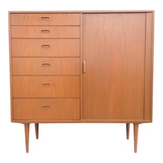 Mid Century Danish Modern Tall Chest of Drawers