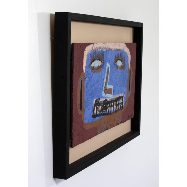 Contemporary Contemporary Framed Painting on Wood Portrait Signed Tyree Guyton Dated 2000s For Sale - Image 3 of 8