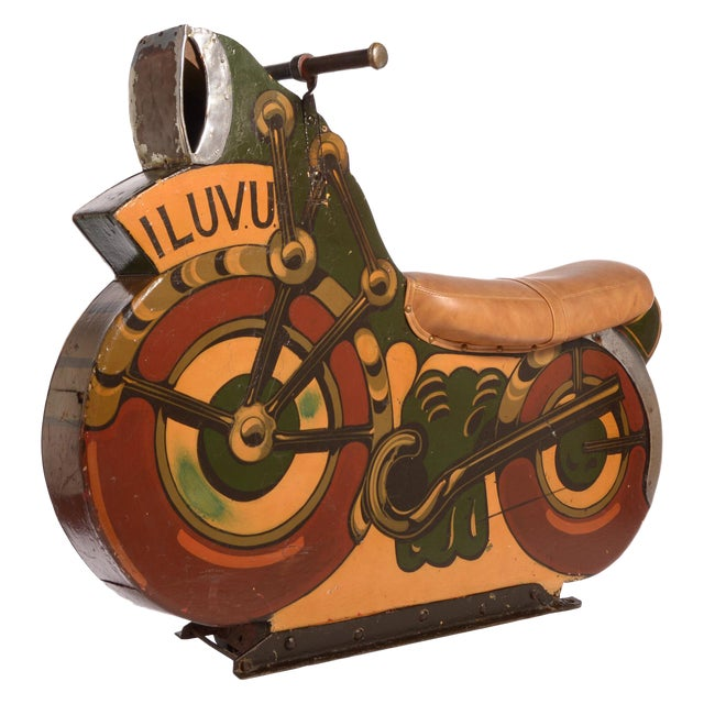 Antique Motorcycle Ride for a Carnival Carousel and Merry-Go-Round For Sale - Image 11 of 11