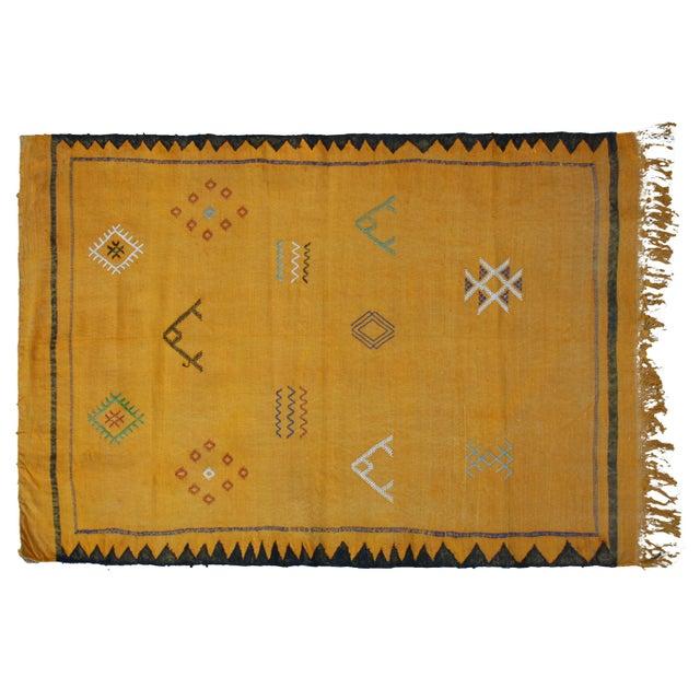 Moroccan Cactus Silk Rug - 3′4″ × 4′11″ - Image 1 of 3