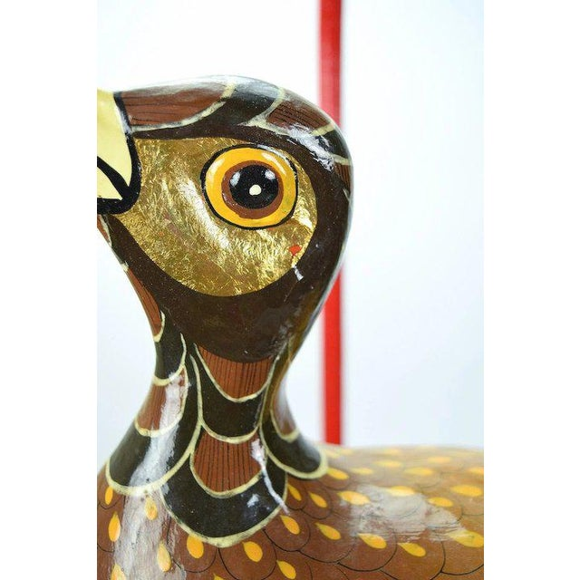 1990s Vintage Sergio Bustamante Limited Edition Paper Mache Tropical Bird Sculpture For Sale - Image 5 of 8