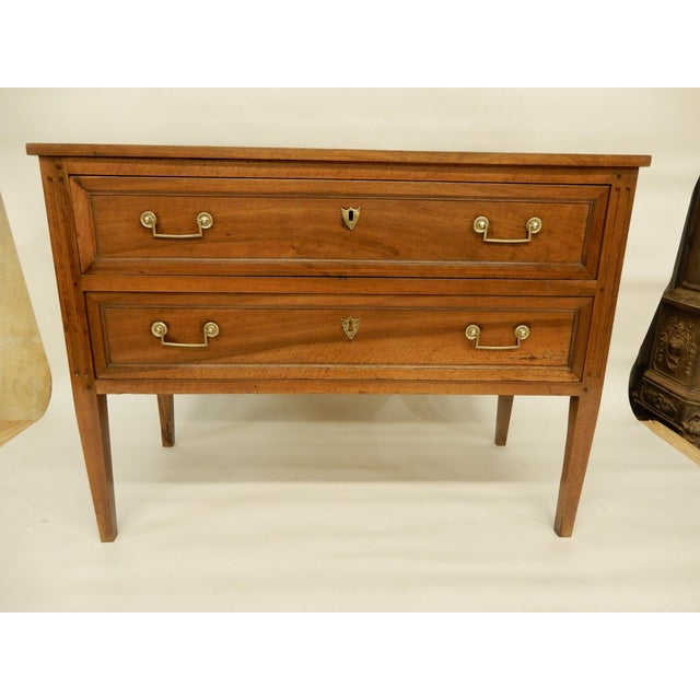Brown Louis XVI Walnut 19th Century Commode For Sale - Image 8 of 8