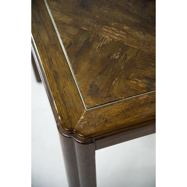 1970s Drexel Campaign Style Burl Wood Side Tables - A Pair For Sale - Image 5 of 13