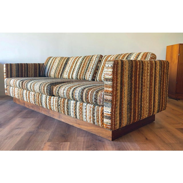 Mid-Century Modern Mid-Century Scandinavian Low-Profile Sofa With Walnut Base For Sale - Image 3 of 3