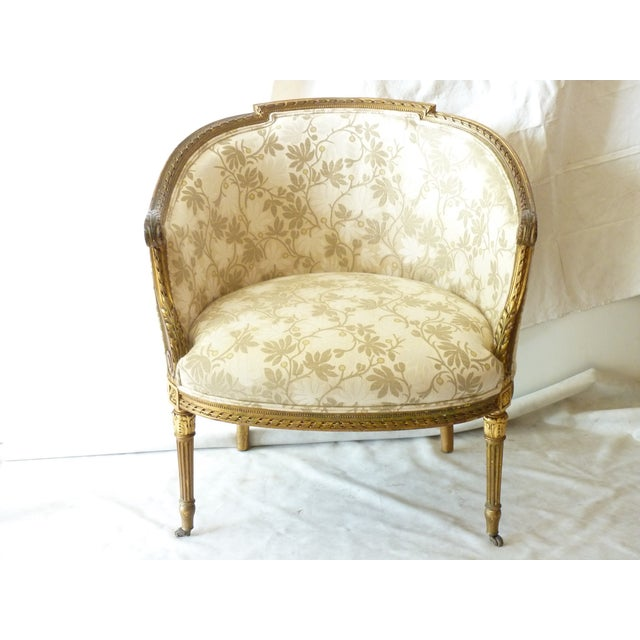 French Giltwood Bergere Chair - Image 2 of 11