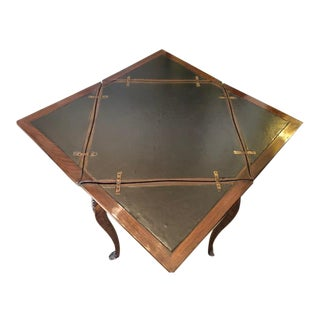 1900s French Style Mahogany and Brass Games Card Table For Sale