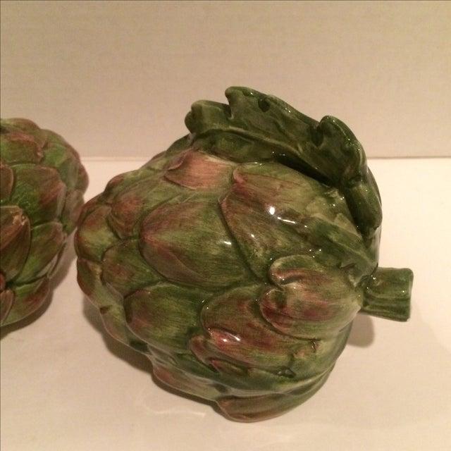 Decorative Ceramic Artichokes - Pair - Image 3 of 7