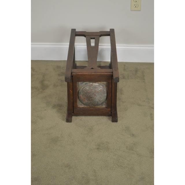 Mission Oak Arts & Crafts Antique Umbrella Cane Stand For Sale - Image 9 of 13